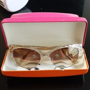 Kate Spade Gold Sparkle sunglasses